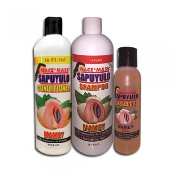Shampoo, conditioner and oil of Sapoyulo