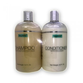 Shampoo and conditioner lawrens with collagen 16 Fl. Oz.