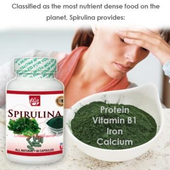 Spirulina Dietary Supplement 60 Caps