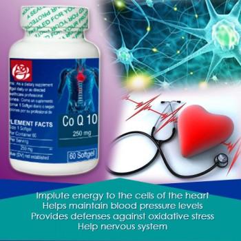 CoQ10   Coenzyme Q10 250 mg 60 Softgels