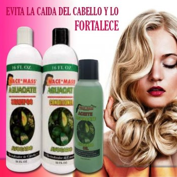 Shampoo, conditioner and oil of Avocado