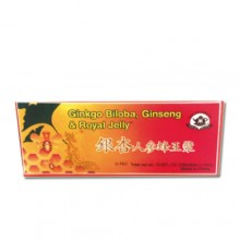 Ginkgo Biloba Ginseng Royal Jelly Extract 30-10ml Bottles