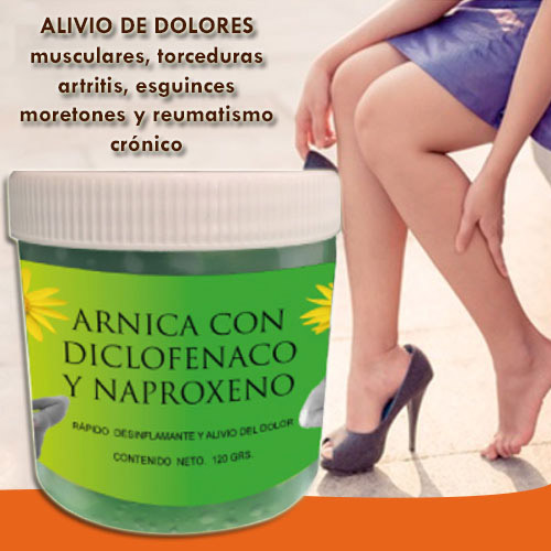 arnica with diclofenac and naproxen
